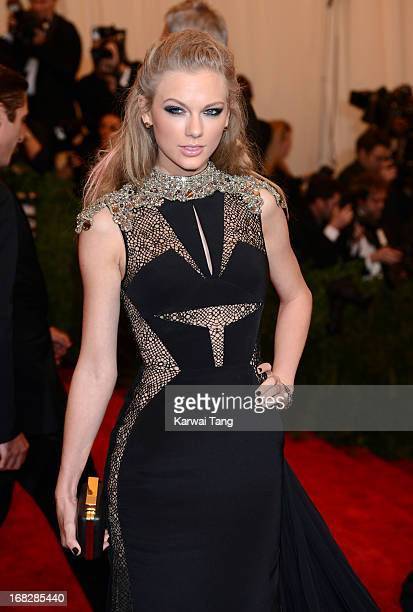 Taylor Swift attends the Costume Institute Gala for the 'PUNK Chaos to Couture' exhibition at the Metropolitan Museum of Art on May 6 2013 in New...