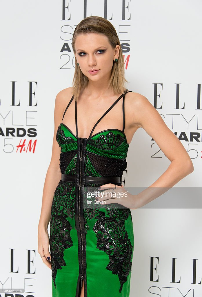 Taylor Swift attends the Elle Style Awards 2015 at Sky Garden @ The Walkie Talkie Tower on February 24, 2015 in London, England.