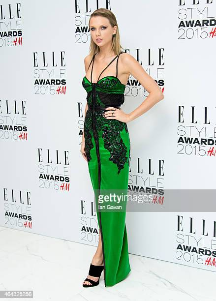 Taylor Swift attends the Elle Style Awards 2015 at Sky Garden @ The Walkie Talkie Tower on February 24 2015 in London England