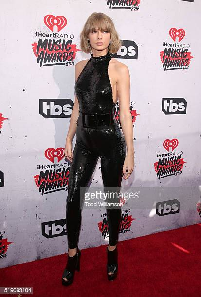 Taylor Swift attends the iHeartRadio Music Awards at the Forum on April 3 2016 in Inglewood California