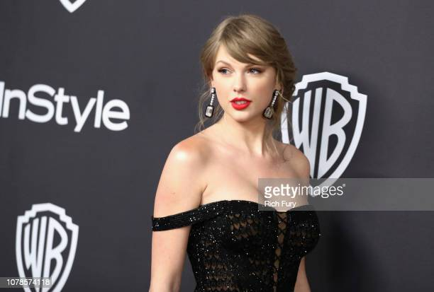 Taylor Swift attends the InStyle And Warner Bros Golden Globes After Party 2019 at The Beverly Hilton Hotel on January 6 2019 in Beverly Hills...