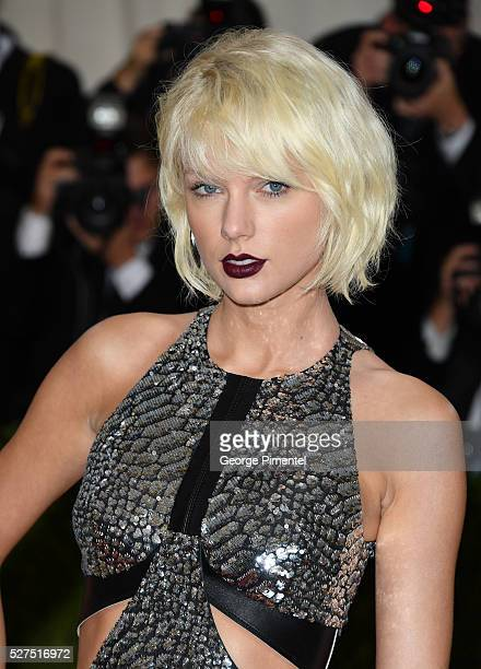 Taylor Swift attends the 'Manus x Machina: Fashion in an Age of Technology' Costume Institute Gala at the Metropolitan Museum of Art on May 2, 2016...