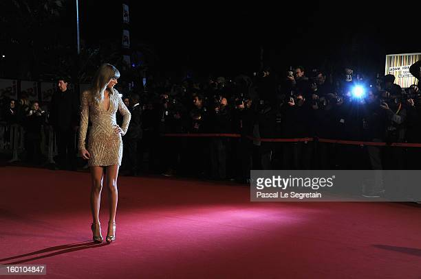 Taylor Swift attends the NRJ Music Awards 2013 at Palais des Festivals on January 26, 2013 in Cannes, France.