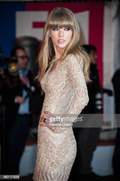 Taylor Swift attends the NRJ Music Awards 2013 at Palais des Festivals on January 26 2013 in Cannes France