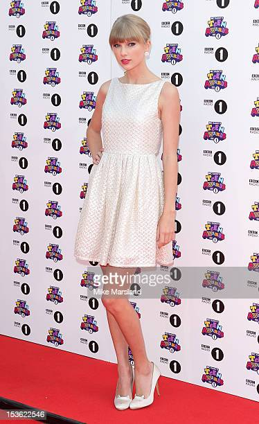 Taylor Swift attends the Radio One Teen Awards at Wembley Arena on October 7 2012 in London England