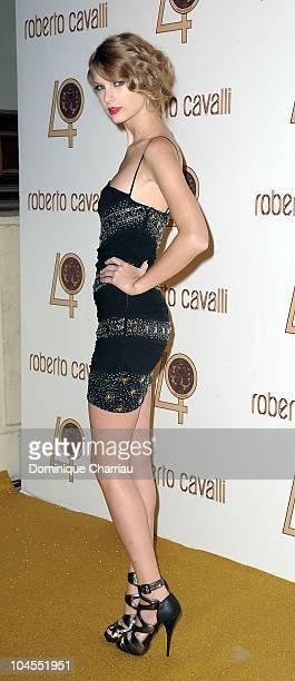 Taylor Swift attends the Roberto Cavalli party at Les BeauxArts de Paris as part of the Paris Fashion Week Ready To Wear S/S 2011 at Les BeauxArts de...