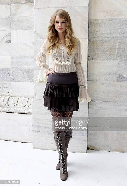 Taylor Swift attends the Roberto Cavalli Spring/Summer 2011 fashion show during Milan Fashion Week Womenswear on September 27 2010 in Milan Italy