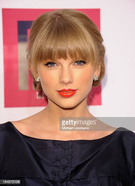 Taylor Swift attends the Taylor Swift and Target 'Red' Deluxe Edition CD Release Launch Party at Skylight West on October 22 2012 in New York City