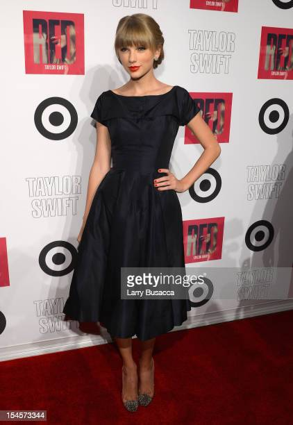 """Taylor Swift attends the Taylor Swift and Target """"Red"""" Deluxe Edition CD Release Launch Party at Skylight West on October 22, 2012 in New York City."""