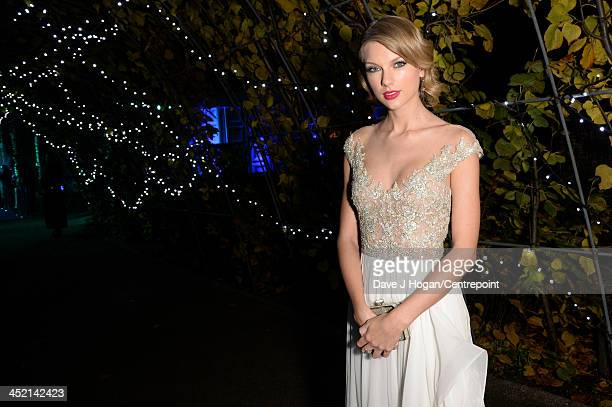 Taylor Swift attends Winter Whites Gala In Aid Of Centrepoint on November 26 2013 in London England