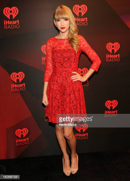 Taylor Swift backstage during the 2012 iHeartRadio Music Festival at the MGM Grand Garden Arena on September 22 2012 in Las Vegas Nevada