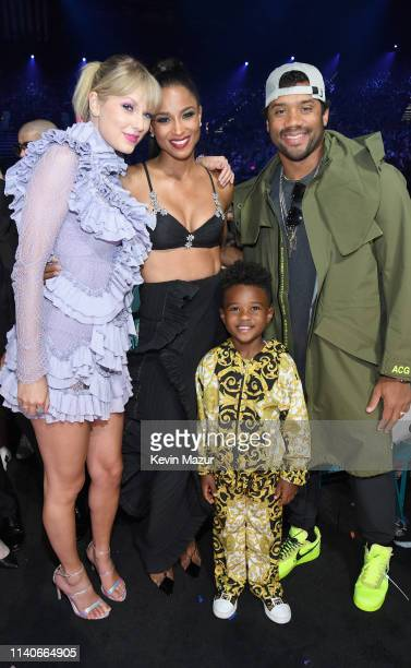 Taylor Swift, Ciara, Russell Wilson, and Future Zahir Wilburn attend the 2019 Billboard Music Awards at MGM Grand Garden Arena on May 1, 2019 in Las...