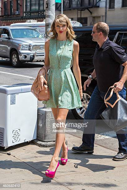 Taylor Swift is seen arriving at her gym on July 22 2014 in New York City