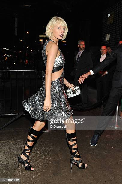 Taylor Swift is seen arriving at The Standard High Line on May 2 2016 in New York City
