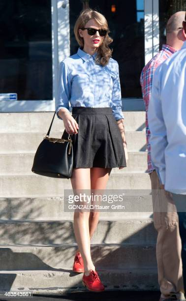 Taylor Swift is seen as she goes shopping on January 19 2014 in Los Angeles California