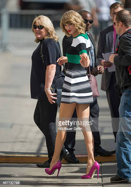 Taylor Swift is seen at 'Jimmy Kimmel Live' on October 23 2014 in Los Angeles California