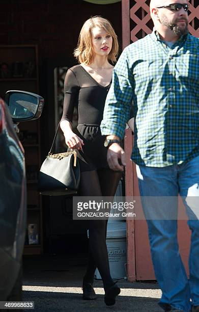 Taylor Swift is seen attending a dance class on February 17 2014 in Los Angeles California