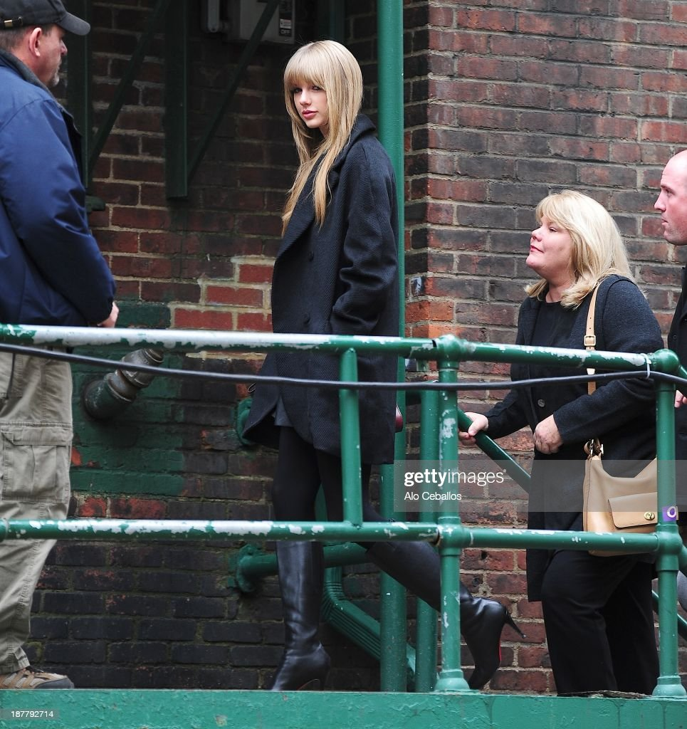 Taylor Swift is seen in Midtown on November 12, 2013 in New York City.