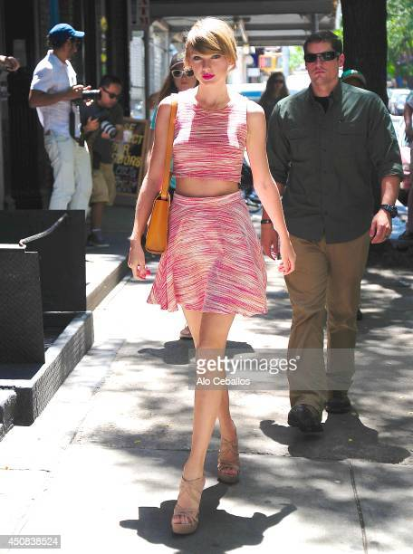 Taylor Swift is seen in the East Village on June 18 2014 in New York City