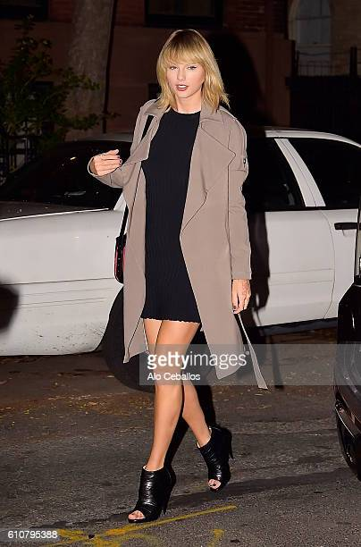 Taylor Swift is seen in the West Village on September 27 2016 in New York City