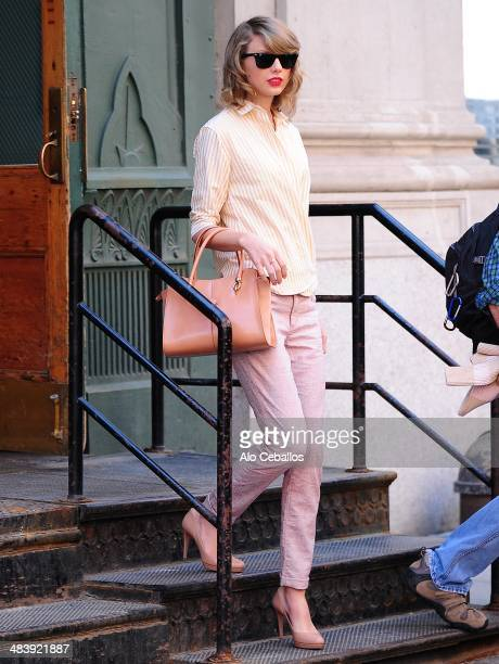 Taylor Swift is seen in Tribeca on April 10 2014 in New York City