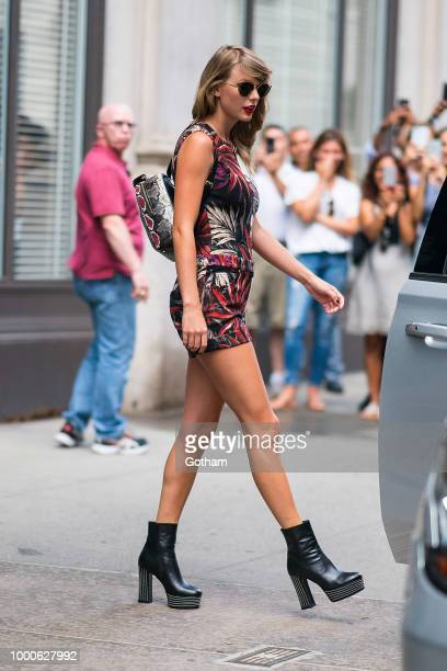 Taylor Swift is seen in Tribeca on July 17 2018 in New York City