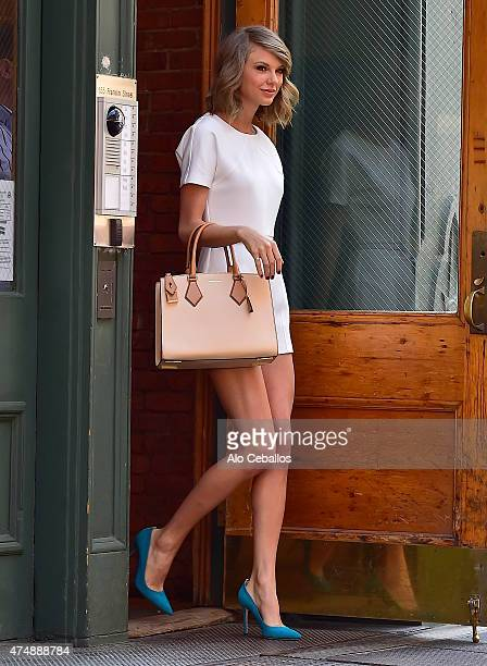 Taylor Swift is seen in Tribeca on May 27 2015 in New York City