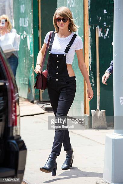 Taylor Swift is seen in TriBeCa on May 28 2015 in New York City