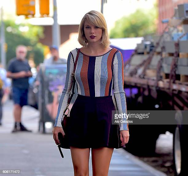 Taylor Swift is seen in Tribeca on September 16 2016 in New York City