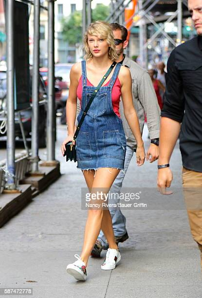 Taylor Swift is seen on August 08 2016 in New York City
