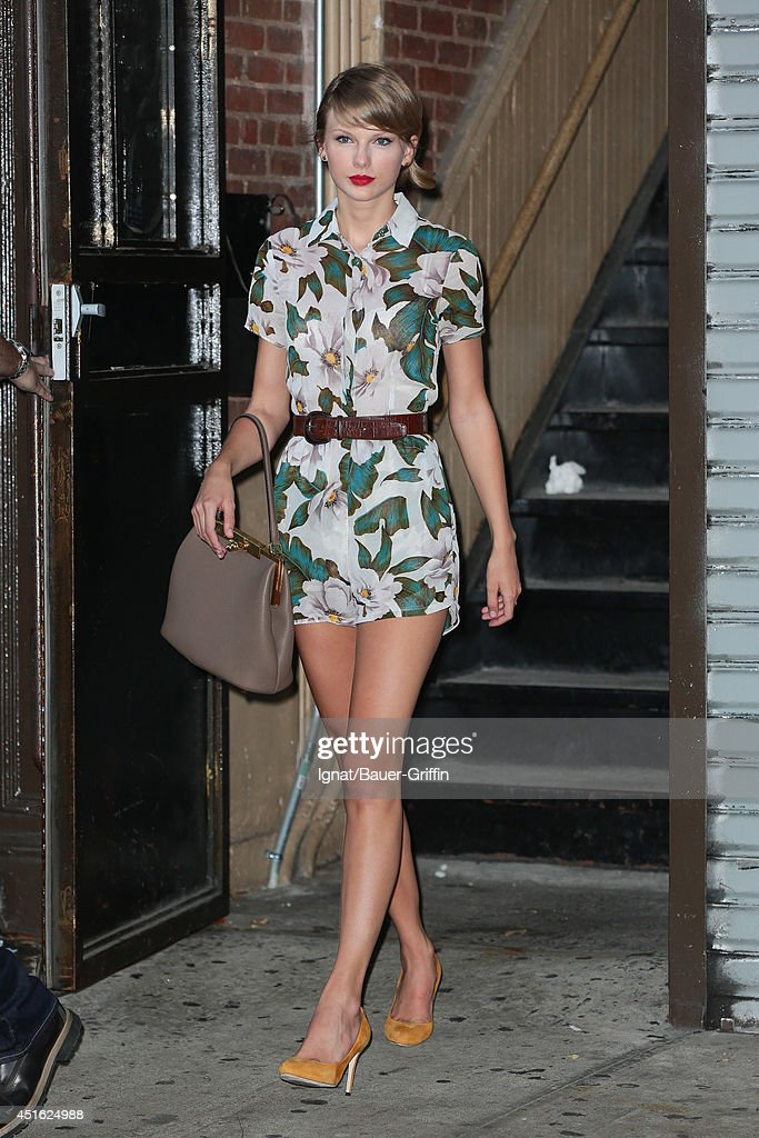Celebrity Sightings In New York - July 02, 2014 : News Photo