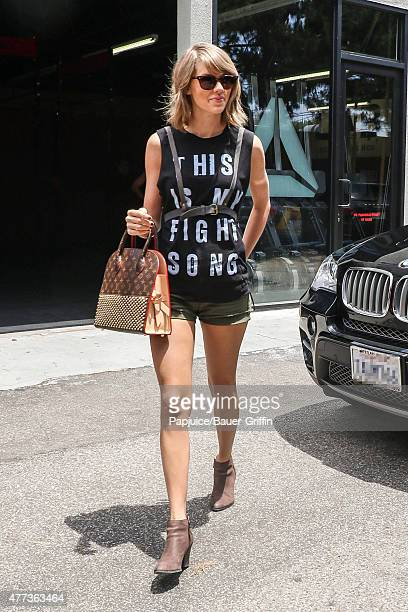 Taylor Swift is seen on June 16 2015 in Los Angeles California