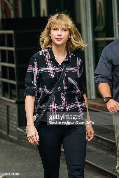 Taylor Swift is seen on September 28 2016 in New York City