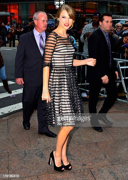Taylor Swift leaving her hotel on October 13 2011 in New York City