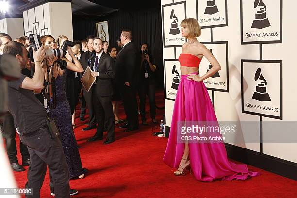 Taylor Swift on the Red Carpet at THE 58TH ANNUAL GRAMMY AWARDS broadcast on the CBS Television Network on Monday Feb 15 2016 at STAPLES Center in...