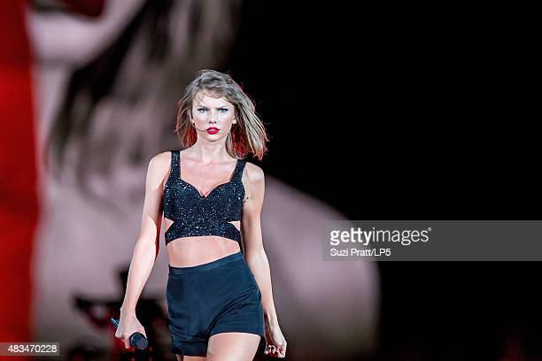 Taylor Swift performs at CenturyLink Field on August 8 2015 in Seattle Washington
