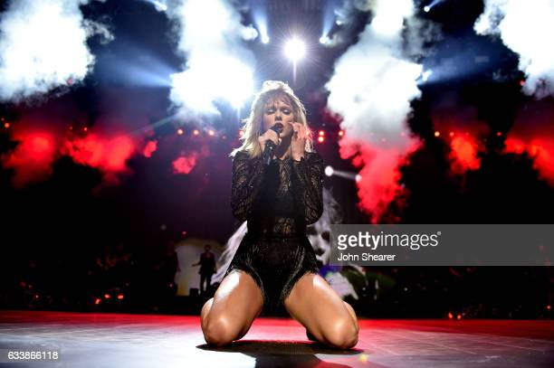 Taylor Swift performs at DIRECTV NOW Super Saturday Night Concert at Club Nomadic on February 4 2017 in Houston Texas