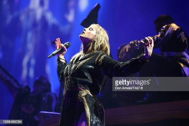 Taylor Swift performs at Mt Smart Stadium on November 9 2018 in Auckland New Zealand