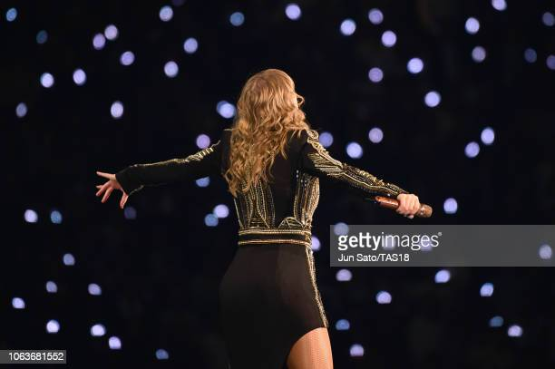 Taylor Swift performs at Taylor Swift reputation Stadium Tour in Japan presented by Fujifilm instax at Tokyo Dome on November 20 2018 in Tokyo Japan