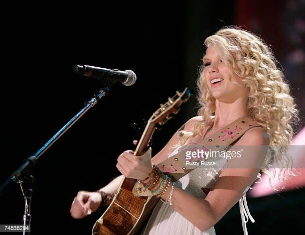 Taylor Swift performs at the CMA Music Festival on Sunday June 10 2007 in Nashville Tennessee