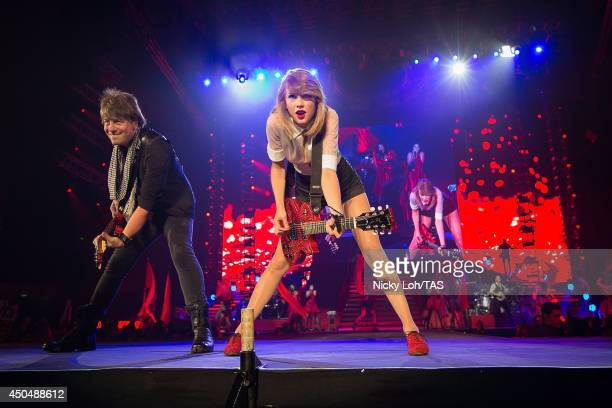 Taylor Swift performs at the Singapore Indoor Stadium on June 12, 2014 in Singapore, Singapore.