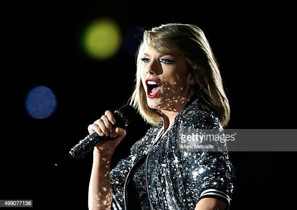 SYDNEY AUSTRALIA NOVEMBER Taylor Swift performs during her '1989' World Tour at ANZ Stadium on November 28 2015 in Sydney Australia