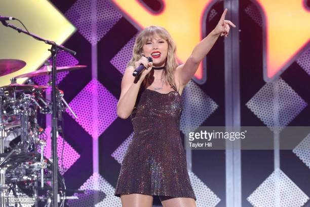 Taylor Swift performs during the 2019 Z100 Jingle Ball at Madison Square Garden on December 13 2019 in New York City