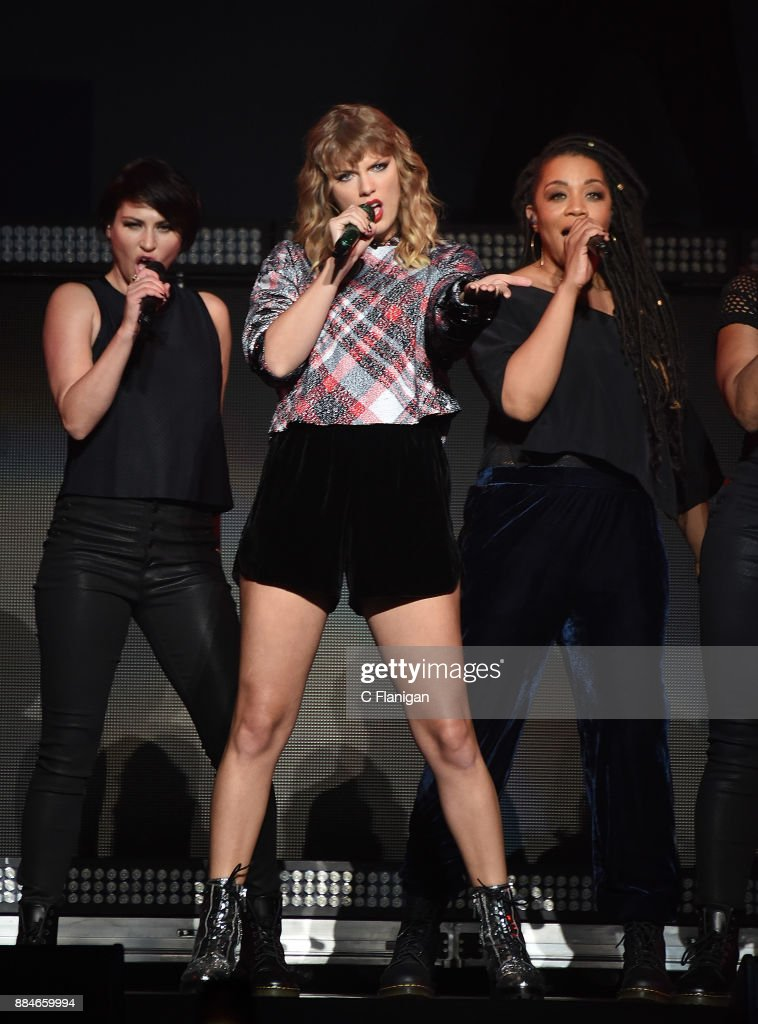 Taylor Swift performs during the 99.7 NOW! POPTOPIA at SAP Center on December 2, 2017 in San Jose, California.