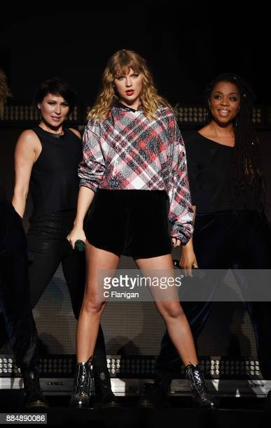 Taylor Swift performs during the 997 NOW POPTOPIA at SAP Center on December 2 2017 in San Jose California