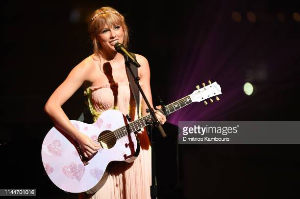Taylor Swift performs during the TIME 100 Gala 2019 Dinner at Jazz at Lincoln Center on April 23 2019 in New York City