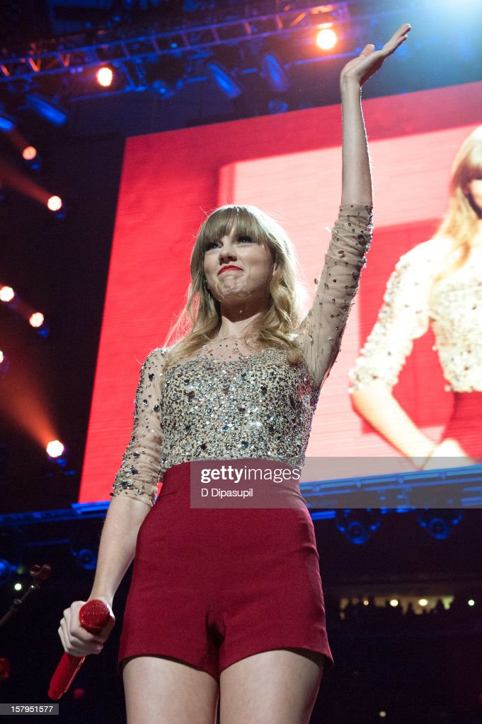Taylor Swift performs during Z100's Jingle Ball 2012 presented by Aeropostale at Madison Square Garden on December 7, 2012 in New York City.