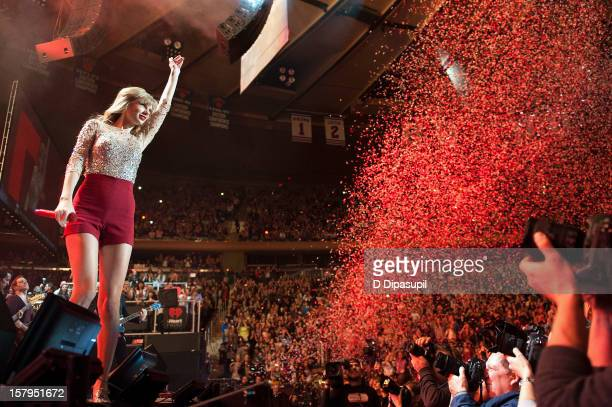 Taylor Swift performs during Z100's Jingle Ball 2012 presented by Aeropostale at Madison Square Garden on December 7 2012 in New York City