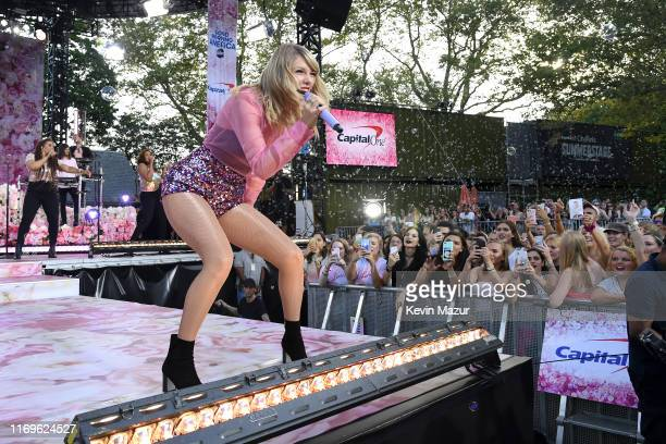 Taylor Swift performs on ABC's Good Morning America at SummerStage at Rumsey Playfield Central Park on August 22 2019 in New York City