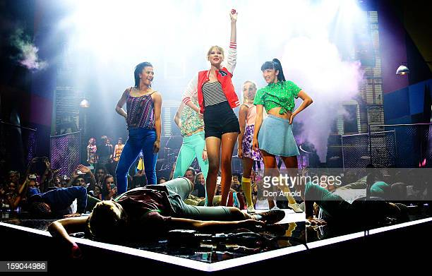 Taylor Swift performs on stage at the 26th Annual ARIA Awards 2012 at the Sydney Entertainment Centre on November 29 2012 in Sydney Australia